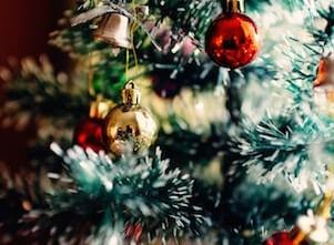 Mit diesem Bild werben wir für Yoga an Weihnachten und Neujahr.