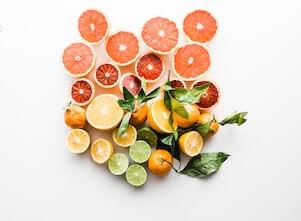 Yoga und Faszien: diese Orangen zeigen symbolisch das Faszien Gewebe.